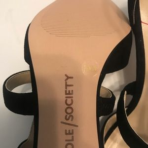 Sole Society Shoes - Sole Society Edelyn Black Suede Pump